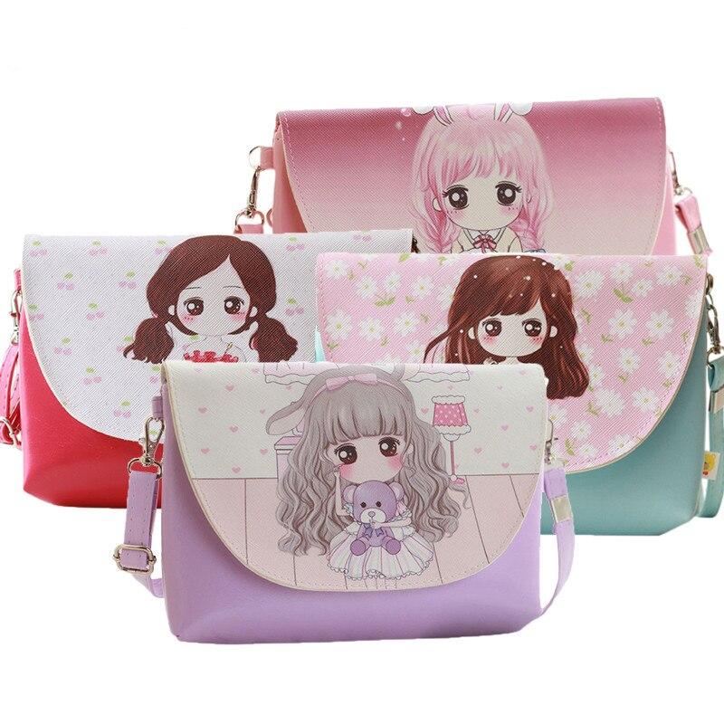 Kawaii Cartoon Print Kids Baby Messenger Bags Clutch Women Crossbody Bag Female Shoulder Bags For Girls Party Handbags