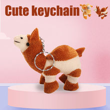 Cute Soft Camels Pendant Llama Key Chain Funny Stuffed Plush Doll Kids Toy Gift Keychain Stuffed Dolls For Kids Christmas Gifts(China)