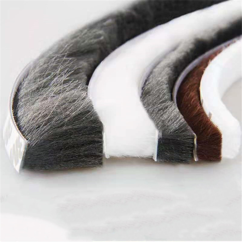 Weather Stripping Door Seal Strip Wool Pile Seals Brush Weatherstrip Draft Stopper Sound Proof Window Seal Tochtstrip Deur
