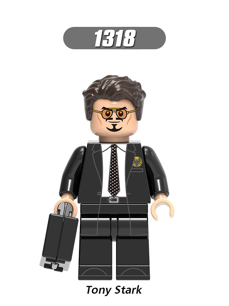 Single Sale Compatible Legoinglys Super Heroes Figures Robert Ron Man Stark Steve Rogers Building Blocks Toys Kids Gift X0264