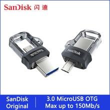 Sandisk Pendrive 128gb 32gb 64gb 256gb OTG USB Flash Drive 32 64 128 16 GB Pen Drive USB 3,0 USB Stick disco clave memoria para teléfono