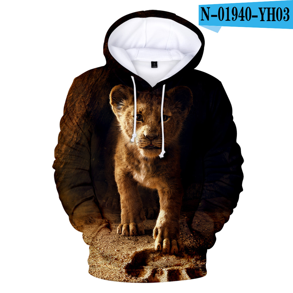 Lion King Hoodie Sweatshirt Street-Wear-Style 3d-Printed High-Quality Men/women The Hot-Sale
