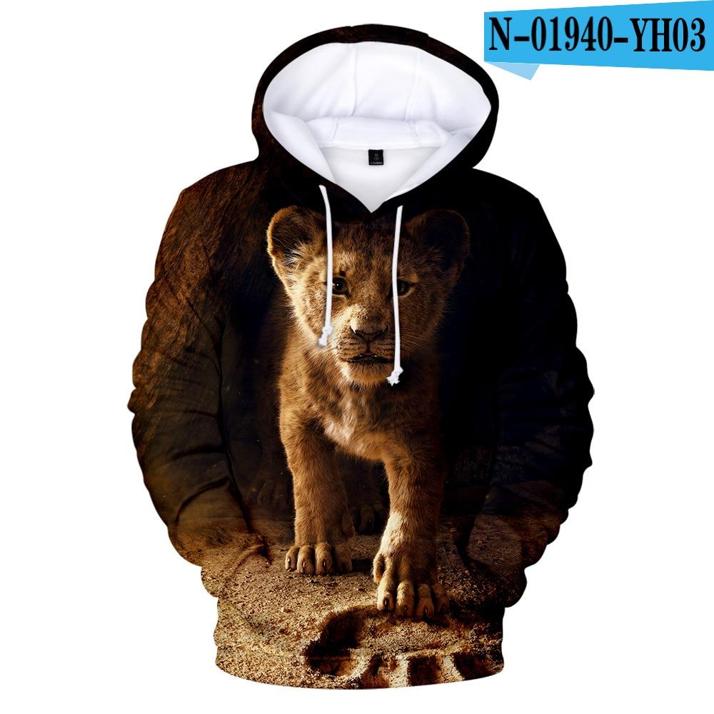 Hot Sale 3D The Lion King Hoodies Men/Women High Quality Hoodie 3D Printed The Lion King Sweatshirt Kids Street Wear Style