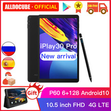 Alldocbe iplay30 pro 10.5 polegada android 10 tablet pc 6gb ram 128gb rom p60 mt 6771 comprimidos 1920*1200 4g lte phonecall iplay 30