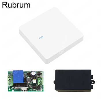 Rubrum 433 Mhz Wireless RF Wall Panel Transmitter and AC 110V 220V 1 CH Remote Control Switch Relay Receiver Hall Bedroom Light smart home ac 220v 4ch 4 ch wireless remote control led light bulb switch relay output radio receiver module and transmitter