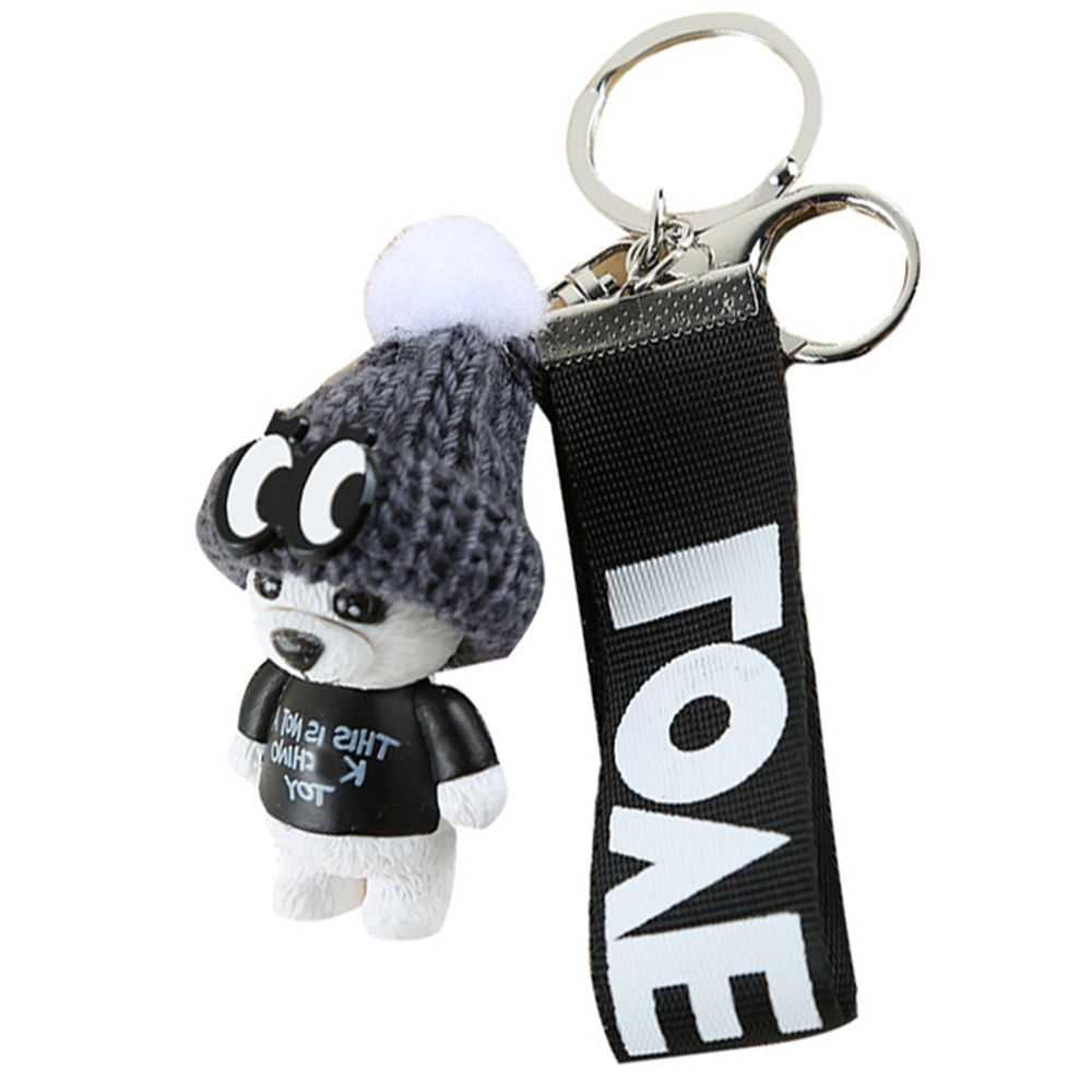 New Arrival Cute Teddy Bear Key Chain'THIS IS NOT A KSCHINO TOY'Bear KeyChain Animal Pattern Key Holder For Girl Friend