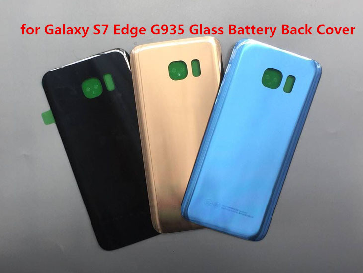 For Galaxy S7 Glass Battery Back Cover for Samsung Galaxy S7G9300 / S7G9350 Edge Rear Housing Door Cover Repair Parts image