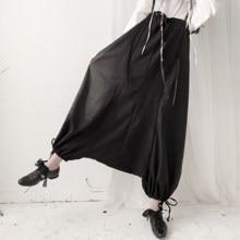 Dark Yamamoto Haute couture, повседневный дизайн, шнурок, шнурок, слаксы, слаксы
