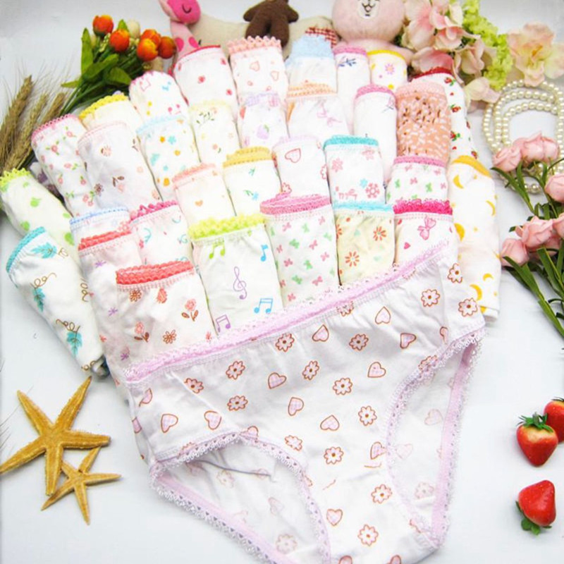 18Pc/Lot Soft Comfortalbe Baby Girls Underear Cotton Panties for Girls Kids Short Briefs