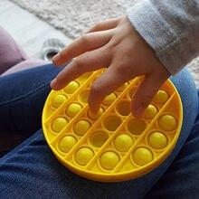 Anti-stress brinquedos bolha popping jogo push fidget sensorial brinquedo engraçado adulto crianças reliver estresse brinquedos silicone autismo necessidades especiais