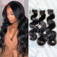 Mèches Body Wave brésiliennes 100% naturelles – Arabella, Extension de cheveux doublement tirés, cheveux vierges