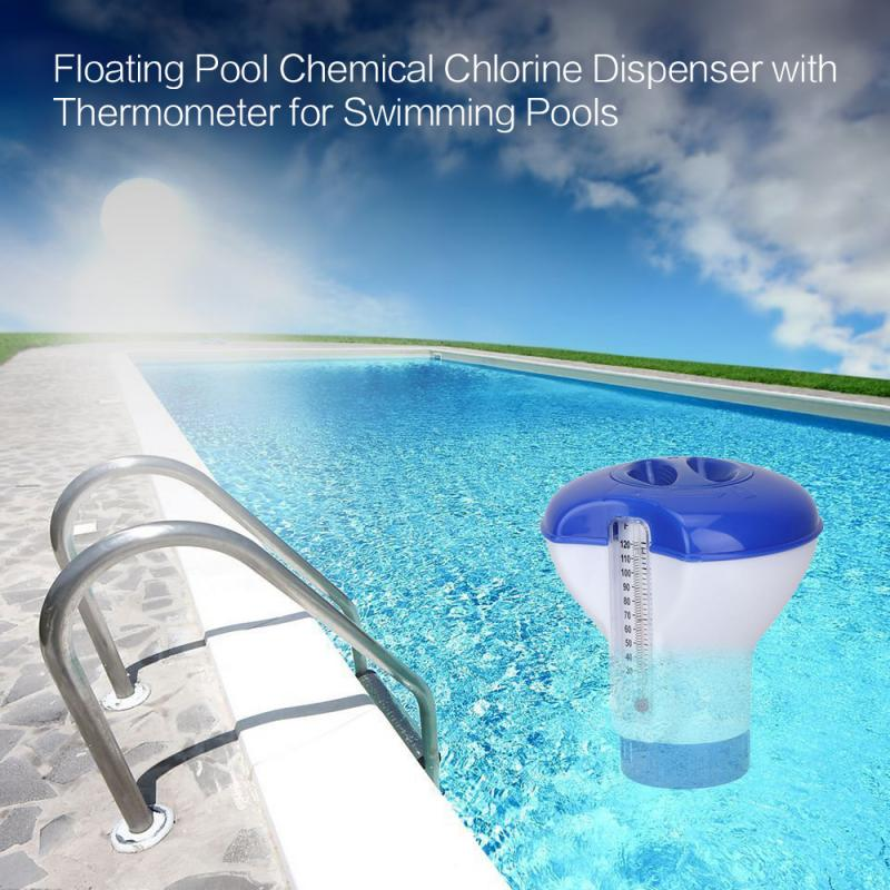 Pool Supply Town Floating Chlorine And Bromine Tabs Dispenser With Thermometer Accessories Magic Pool Cleaning 100 Tablet