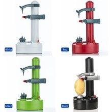 Электрическая спиральная овощерезка для яблок, овощерезка для фруктов и картофеля, автоматическая машина на батарейках, Овощечистка, слайс...