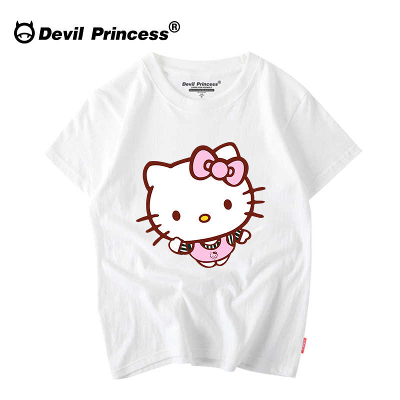 100% хлопок милая, картонная женская футболка с коротким рукавом Корейская одежда Рубашки женские 2018 o-образным вырезом повседневная женская одежда Прямая поставка