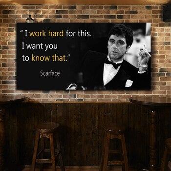 Impresión de la película Tony Montana, Retrato, cuadro de pared, lienzo, cuadro...