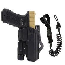 Подвижные кобуры Colt для Glock 17 18 Colt 1911, кобура для пистолета для страйкбола, подходит для фонарика или лазерного крепления, правая рука с ремне...