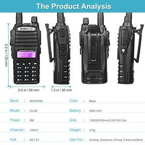 Image 5 - BaoFeng UV 82 ريال 8 واط عالية الطاقة ثنائي النطاق اتجاهين هام راديو 136 174 ميجا هرتز (VHF) 400 520 ميجا هرتز (UHF) الهواة (هام) المحمولة