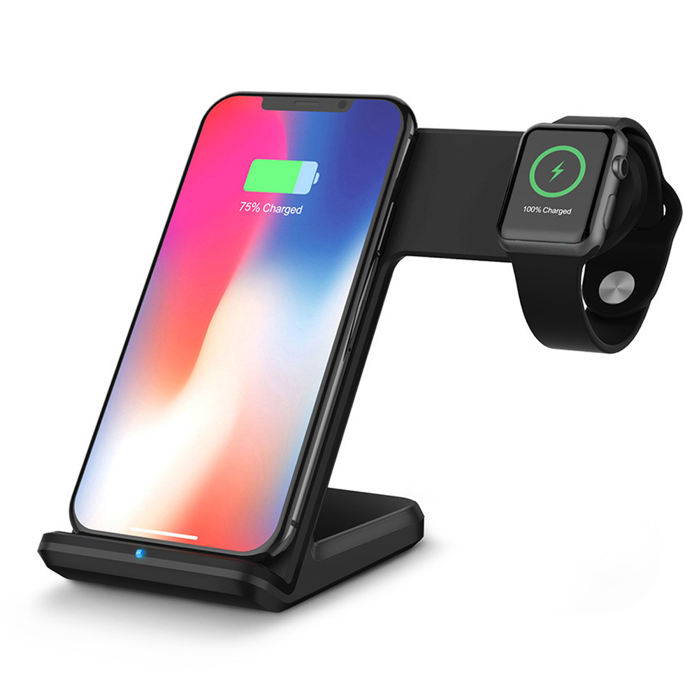 10W <font><b>QI</b></font> Wireless Charger for Samsung S8 S9 for iPhone 11 PRO MAX XS MAX 7 8 Quick Charger Dock Station for Apple <font><b>Watch</b></font> 5 3 2 1 image