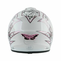 DOT Youth Kids Helmet Pink Butterfly Red Spider Net Dirt Bike ATV MX Helmets full face w/Goggles+gloves Cycling casco moto kask 3