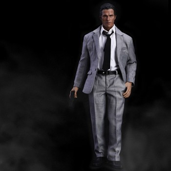1/6 Male Grey Suit Narrow Shoulder Clothes for 12'' Action Figures Bodies