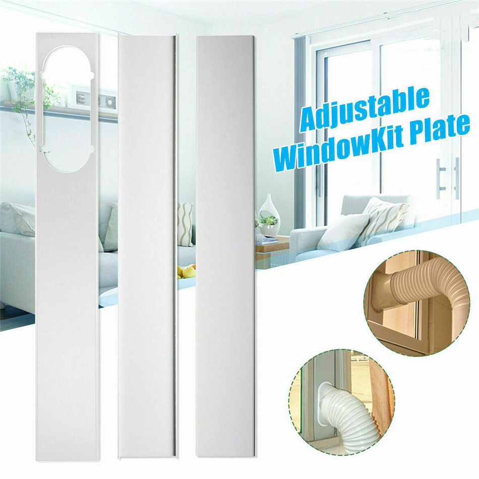 VOGVIGO 3PCS Adjustable 160CM Window Slide Kit Plate For Portable Air Conditioner
