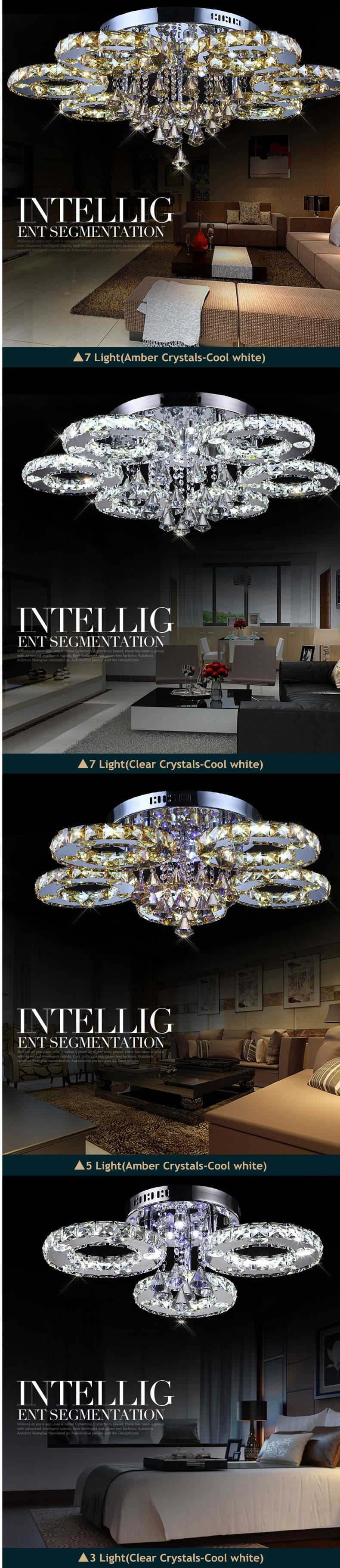 H101e470de8b7442d93df627deae70c66j Flush Crystal Ceiling Lights | Crystal Flush Mount Ceiling Light | Modern Led Crystal Ceiling Lights For Living Room and For Home Decoration with Voltage 85-265V
