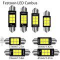 1 шт. 3030 гирлянда 31 мм 36 мм/39 мм/41/42 мм C5W Светодиодная лампа с CAN-BUS C10W купольная лампа для чтения автомобиля Beleuchtung внутренняя Лицензия плиты св...