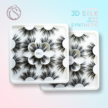 Handmade Natural 3d 25mm Silk Mink Lashes High Quality lashes wholesale Faux  70/140/210pairs
