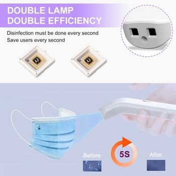 Portable UV-C Ozone Ultraviolet Germicidal Sterilization Lamp Home Disinfection Light Home Personal Anti Virus Ultraviolet Light