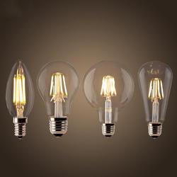 Светодиодный ламп накаливания E27 Ретро лампа Эдисона 220V E14 Винтаж C35 лампы в форме свечи с функцией дневного света G95 Глобус ампулы
