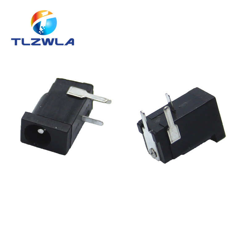 10Pcs Hot Sales High Quality DC-002 0.3A 50V Black DC Power Jack Socket Connector DC002 3.5*1.3mm 1.3 Socket