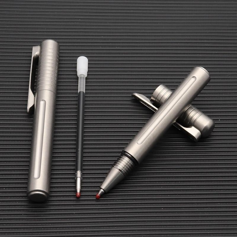 Pure Titanium Pen Outdoor Camping Tragbare Ausrüstung EDC Tool X0P8