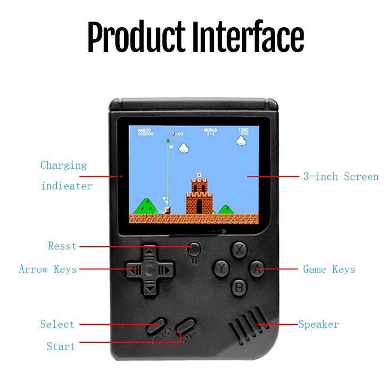 Mini video oyunu konsolu dahili 500 klasik nostaljik oyun oyuncu Retro 8 Bit cep el oyun oyuncu çocuk için en iyi hediye