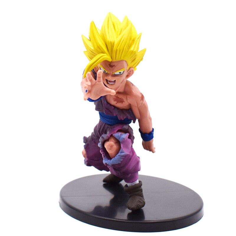 11cm Anime Brinquedos Super Saiyan Son Goku Gohan PVC Action Figures Dragon Ball Z Figurine Collectible Model Doll Kids Toys