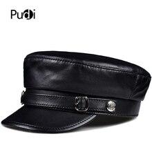 Pudi man Натуральная овечья кожа военная шапка Кепка для мальчиков стиль шапка лётчика бейсболки HL905