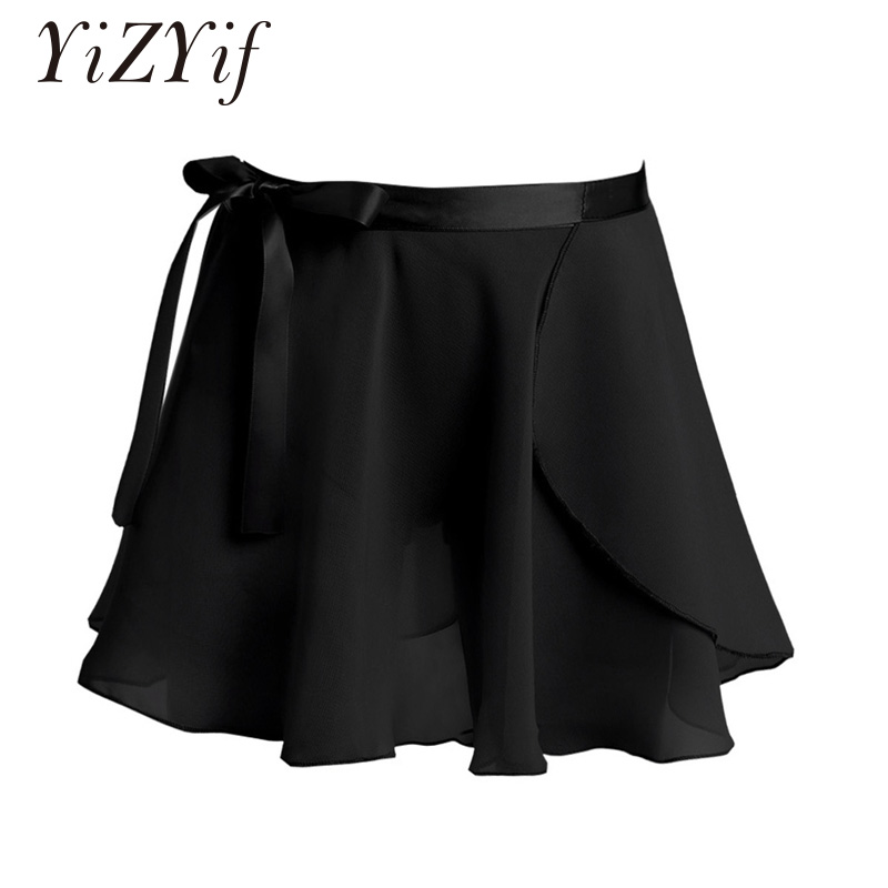 Kids Girls Ballet Skirt Ballerina Dance Ballet Dress Basic Classic Chiffon Mini Pull-On Wrap Skirt With Waist Tie Kids Costume