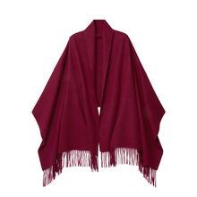Зима 2020 новый однотонный шерстяной шарф теплый женский зимний