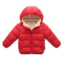 Winter Children Thickening Hooded Cotton Jackets Boys Girls Clothes Leisure Sport Solid Cotton Kids Coats Fashion Warm Outerwear цена 2017