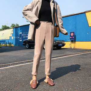 Image 5 - Winter Woolen Pants 2019 New Women Elastic Female Plus Size Casual Trousers Black/Gray/White/Brown Wool Ankle Length Harem Pants