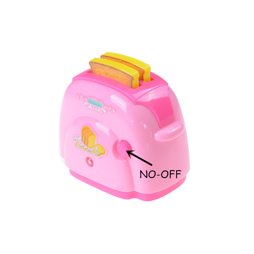 1pc Mini Bread Toaster With Light Dollhouse Gifts Kitchen Pretend Play Toys Baby Classic Toys