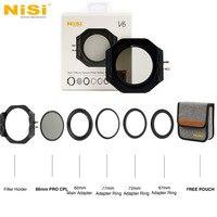 NiSi V6 CPL Filter Holder 100mm System Pro Circular Polarizer Camera Filter filtre For Canon Nikon Sony Olympus FUJIFILM Camera