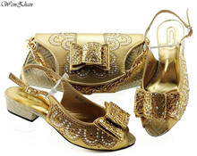 最新のアフリカのマッチングの靴やバッグ夏のスタイル 3.5 センチメートルイタリアの女性の靴やバッグがセット 38  43 WENZHAN B98 2