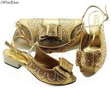 Mới nhất Châu Phi Kết Hợp Giày và Túi Xách Phong Cách Mùa Hè 3.5cm Ý Nữ Giày và Túi Xách Phù Hợp Với Bộ 38  43 WENZHAN B98 2