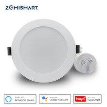 Zemismart AU tipi SAA 3.5 inç WiFi RGBCW Led Downlight ses kontrolü Alexa Echo Google ev asistanı ev otomasyonu