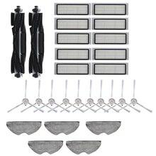 27 Uds lavable cepillo principal cepillos laterales filtro Hepa Filtro de paño de mopa para 360 S5 S7 Robot piezas de aspiradora robótica