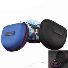 À prova de choque eva caixa de fone de ouvido armazenamento portátil saco de alta qualidade acessórios do fone de ouvido com zíper para marshall