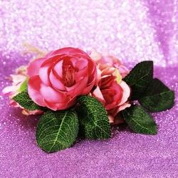 Модные цветочные свадебные аксессуары для волос Веревка, узор в виде Розы, свадебный венок Головные уборы Для женщин галстук-бабочка