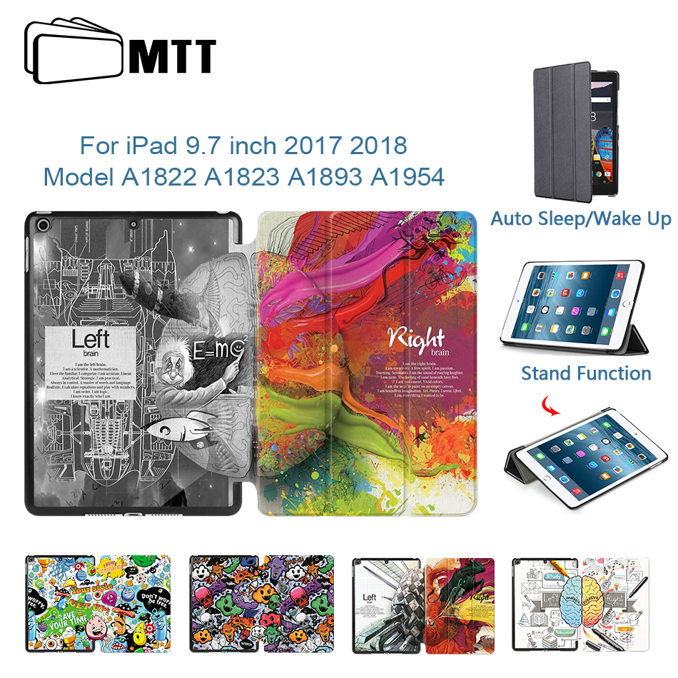MTT Case For Apple IPad 9.7 Inch A1893 A1954 2017 2018 PU Leather Flip Smart Protective Cover Tablet Case Coque A1822 A1823
