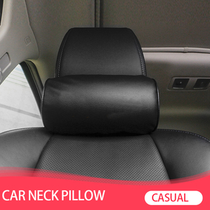 Image 1 - 1 Pcs Car Styling Seat Neck Pillow Protection PU Auto Headrest Support Rest Travelling Car Comfortable Headrest Neck Pillow
