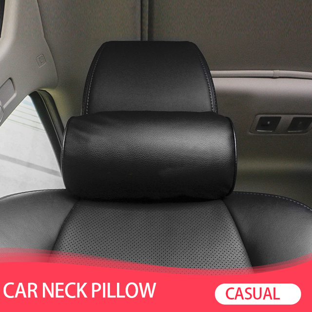 1 Pcs Car Styling Seat Neck Pillow Protection PU Auto Headrest Support Rest Travelling Car Comfortable Headrest Neck Pillow